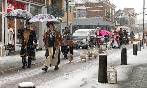 De traditionele Dickens Kerstmarkt